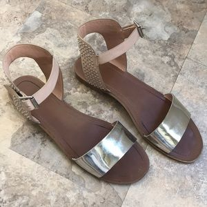 Topshop ankle strap sandal w/ studs